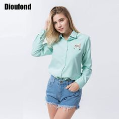 Embroidery Long Sleeve Women Blouses And Shirts Female Ladies Casual Shirt