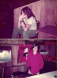 Black Flag: Henry Rollins and Kira Roessler during tour ca 1985