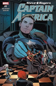 Captain America: Steve Rogers With Steve searching desperately for Kobik, he reaches out to a hero that can help — Avril Kincaid, the all-new Quasar! A threat from beyond the stars pushes an already-weakened S. to the brink. Marvel Comics, Ms Marvel, Marvel Avengers, Marvel Captain America, Capitan America Marvel, Steve Rogers, Comic Book Artists, Comic Books Art, Captain Hydra