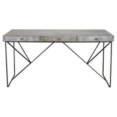 Check out this item at One Kings Lane! 3-Drawer Desk, Gray/black