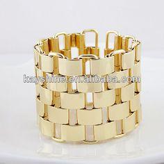 venda quente design inovador de ouro cor praça da cadeia de moda pulseira e bracelete da jóia