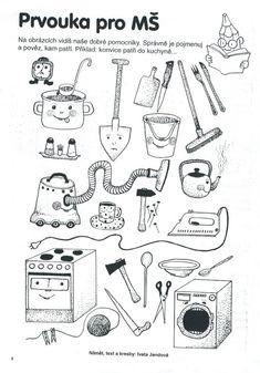 Domácí pomocníci | Výtvarná výchova Kids Learning Activities, Baby Art, Teaching English, Montessori, Worksheets, Back To School, Crafts For Kids, Preschool, Education