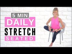 Stretching Routine For Flexibility, Daily Stretches, Stretch Routine, Stretching Exercises, 14 Day Workouts, Aerobics Workout, Senior Fitness, Pure Barre, Total Body
