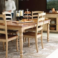 ''Alton'' Rectangular Dining Table with Leaf - Sears Dining Table With Leaf, Modern Dining Table, Dining Room Table, Dining Chairs, Kitchen Tables, Online Furniture, Decoration, Kitchen Decor, Kitchen Ideas