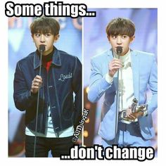 Yeol will always have to bend to reach the Mic and kyungsoo would have to jump