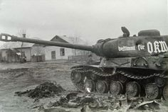 The German crew of their captured Russian JS-2 had their luck finally run out after fierce defensive fighting near Berlin. They were all killed while attempting to escape after the tank was knocked out and disabled.