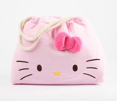 Hello Kitty Big Tote Bag: Light Pink