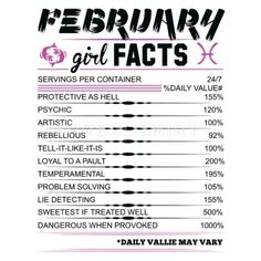 February Girl Facts Pisces Women's T-Shirt Aquarius Traits, Aquarius Horoscope, Aquarius Quotes, Aquarius Woman, Astrology Pisces, Zodiac Signs Aquarius, Zodiac Sign Facts, My Zodiac Sign, Girl Facts