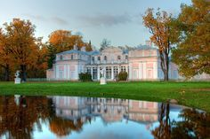 The Chinese Palace, built by Antonio Rinaldi, between 1762 and 1768, on the grounds of Oranienbaum park in Russia