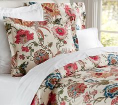 Reagan Floral Duvet Cover & Sham | Pottery Barn in King/Cal. King and King Sham just bought this