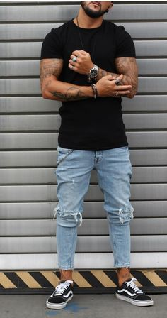 Men's Fashion – How to Nail Office wear – Designer Fashion Tips Stylish Mens Outfits, Casual Outfits, Men Casual, Vans Outfit Men, Fashion Pants, Fashion Outfits, Fashion Sale, Paris Fashion, Fashion Fashion
