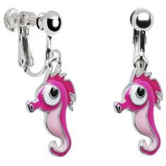 Pink Seahorse Clip On Earrings Body Candy 11 99