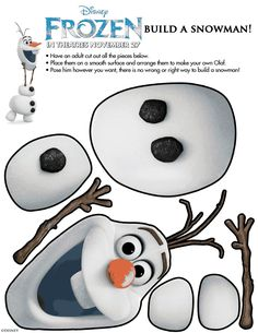 Olaf, from Frozen, Printable  You wanna build a snowman?!?!??! @Desiree Nechacov Nechacov Martinez Blessin Mundt