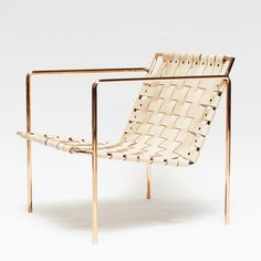 Rod + Weave Chair – Copper Frame by Eric Trine