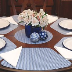 Image For Best Placemats For Round Table