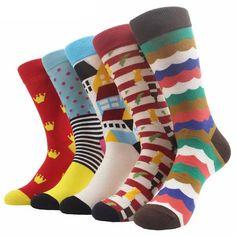 327b1de89b26 MYORED Fashion Colorful Socks Men Hit Color argyle Stripes big dot Jacquard  filled optic combed Cotton Male Sock wedding gift ** Click the VISIT button  to ...
