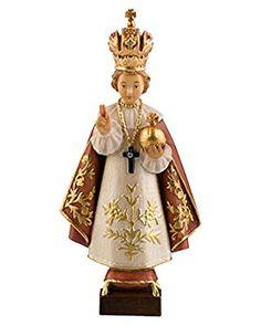 創業100年の木彫りブランド《レーピ》イエスキリスト プラハの幼子イエス像 カラー C 高さ 20cm【イタリア】