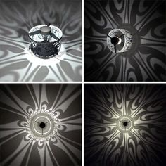 Ceiling mounted light fixtures that cast shadows ...how fun, how fabulous! :)