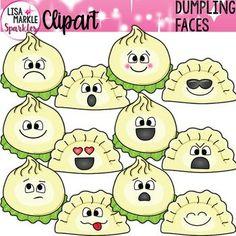 Dumpling Clipart with Emoji Faces Cool Clipart, Emoji Clipart, Emotion Faces, Different Emotions, Teaching Activities, Teaching Ideas, Teacher Binder, Feelings And Emotions, Dumpling