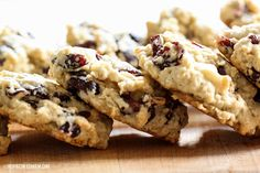 White Chocolate Cranberry Oatmeal Cookies // Fall Cookie Week   Inspired by Charm