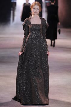 """The Ulyana Sergeenko Couture fall-winter collection gets unveiled during the Paris Haute Couture Fashion Week on July bearing the name """"Russian Gothic"""". Fashion Week, Runway Fashion, Ulyana Sergeenko, Empire Style, Haute Couture Fashion, Fashion History, Evening Gowns, Beautiful Dresses, Marie"""