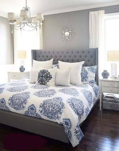 elegant blue bed