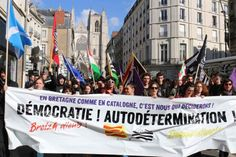 Efeito Catalunha: bretões franceses apoiam catalães e pedem independência (VÍDEO FOTOS)