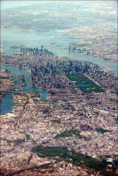 New York - bird's eye view.