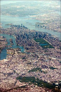 bird's eye view over new york city