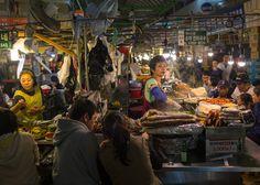 Gwangjang Market - South Korea Eric Ripert Eats His Way Through South Korea - Bon Appétit - http://www.bonappetit.com/people/chefs/article/eric-ripert-korean-food-travel
