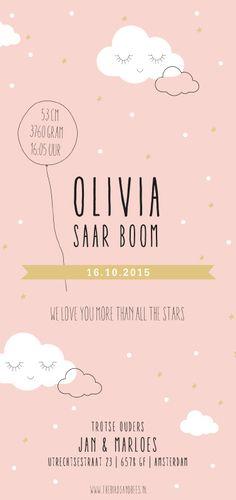 Geboortekaartje meisje
