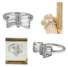 """""""Noble horizontal crystal silver ring"""" by oceanfashion on Polyvore"""