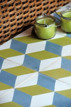 #Cement wall tiles / flooring GEO_UN_04 Cubic tiles Collection by @enticdesigns
