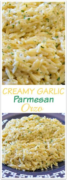 UN-Believably Amazing Garlic Parmesan Orzo recipe that will rock your world!An UN-Believably Amazing Garlic Parmesan Orzo recipe that will rock your world! Orzo Recipes, Side Dish Recipes, Vegetarian Recipes, Dinner Recipes, Cooking Recipes, Healthy Recipes, Parmesan Recipes, Soft Food Recipes, Garlic Recipes