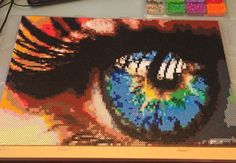 Perler bead eyeball by DearGawd (Measurements are 2 feet by 1.5 feet.)