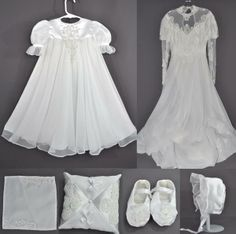 Mom and Daughter Turn Their Wedding Gowns into Christening Outfit