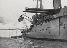 British Battle Cruiser HMS New Zealand one of Admiral Beatty's ships at the Battle of Jutland on 31st May 1916 and flagship to the 2nd Battle Cruiser Squadron