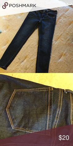 American eagle jeans These are very cute plain jeans that you can accessory anything with. They are cropped/ ankle so they are perfect for the school or going shopping. Make an offer and ask questions below!!! Note* they are super skinny American Eagle Outfitters Pants Ankle & Cropped