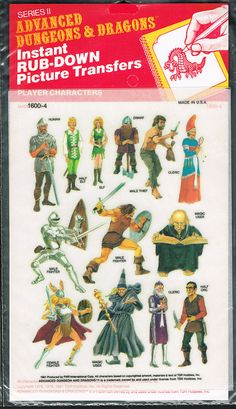 Advanced Dungeons and Dragons Picture Transfers (Player Characters)  Series 2 - 02, 1981 by Aeron Alfrey, via Flickr