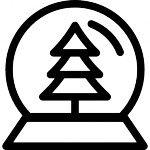 Navidad globo de nieve con el árbol adentro