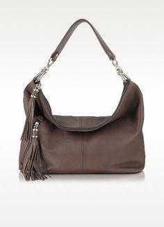 352c3742f536 Buti Dark Brown Leather Shoulder Bag Leather Hobo Handbags