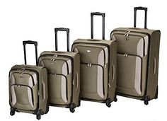 Luggage Sets Collections | The Classic Olive Rockland Impact 4 Piece Spinner Luggage Set * Read more  at the image link. Note:It is Affiliate Link to Amazon.