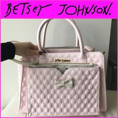 Betsey Johnson Blush Pink Tote and Pouch!!! Super cute and stylish. A bunch of pockets and comes with a detachable pouch! Betsey Johnson Bags Totes
