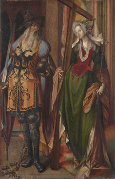 Emperor Constantine and Saint Helena / El emperador Constantino y Santa Elena // ca. 1517 (?) // Cornelis Engebrechtsz. // Alte Pinakothek München