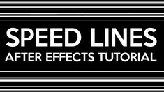 TUTORIAL: Quick Speed Lines with After Effects