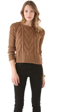 BB Dakota David Cable Knit Sweater-need both colors for fall!