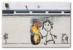 Banksy Burning Tyre Print canvas and poster prints - available at Canvas Art Rocks Banksy Work, Street Art Banksy, Banksy Graffiti, Graffiti Artwork, Cool Artwork, Graffiti Tattoo, Bansky, Amazing Artwork, Banksy Canvas Prints