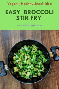 Easy Healthy Broccoli Stir Fry - If you love your vegetables to retain their nutrition and yet taste delicious then stir frying is t - Fried Broccoli, Broccoli Stir Fry, Healthy Recipes For Weight Loss, Easy Healthy Recipes, Healthy Weight, Vegan Recipes, Nutritious Snacks, Healthy Snacks, Indian Food Recipes