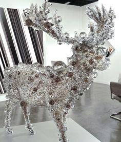 Kohei Nawa. PixCell Red deer. Yanaka Taito-Ku Tokio.