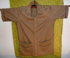 I. Magnin Vintage Mens Short Sleeve Shirt/Jacket